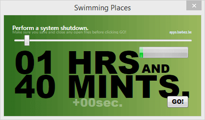 Swimming Places (Shutdown), 24th of September 2015 on Windows 8.1
